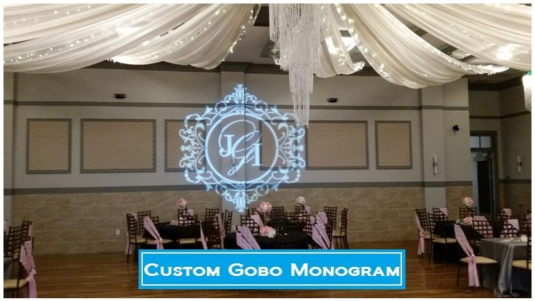 Imagine your names or initials shining with elegance on the center of your dance floor, on a wall, or on the ceiling for everyone to see. Make a statement and brand your event