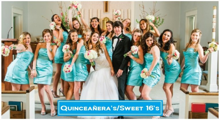 Celebrate your daughter's big milestone and coming of age Quinceañera/Sweet 16 birthday in style. We will transform your venue into a unique Quinceañera/Sweet 16 with our creative ideas and special touches that will wow your guests. Enjoy your event and leave the rest to us