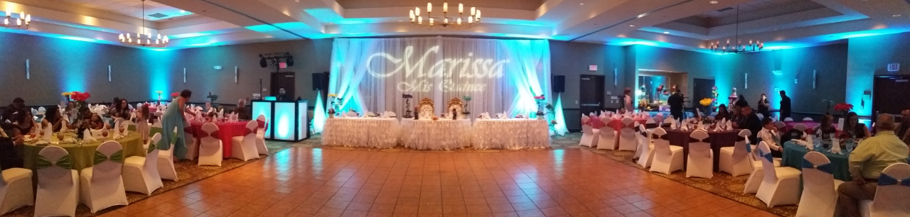 Houston DJ, Quinceañera DJ, Wedding DJ, Houston Up-Lighting, Custom Gobo Monogram, Bilingual DJ, Latino DJ, Spanish DJ, Hispanic DJ, Christian DJ, Sonido Houston