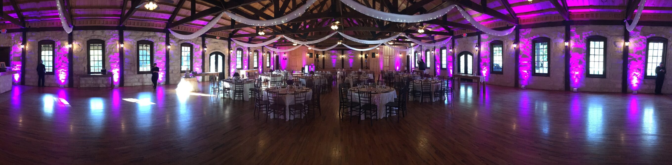 Up Lighting for a Houston Wedding DJ at The Springs Events