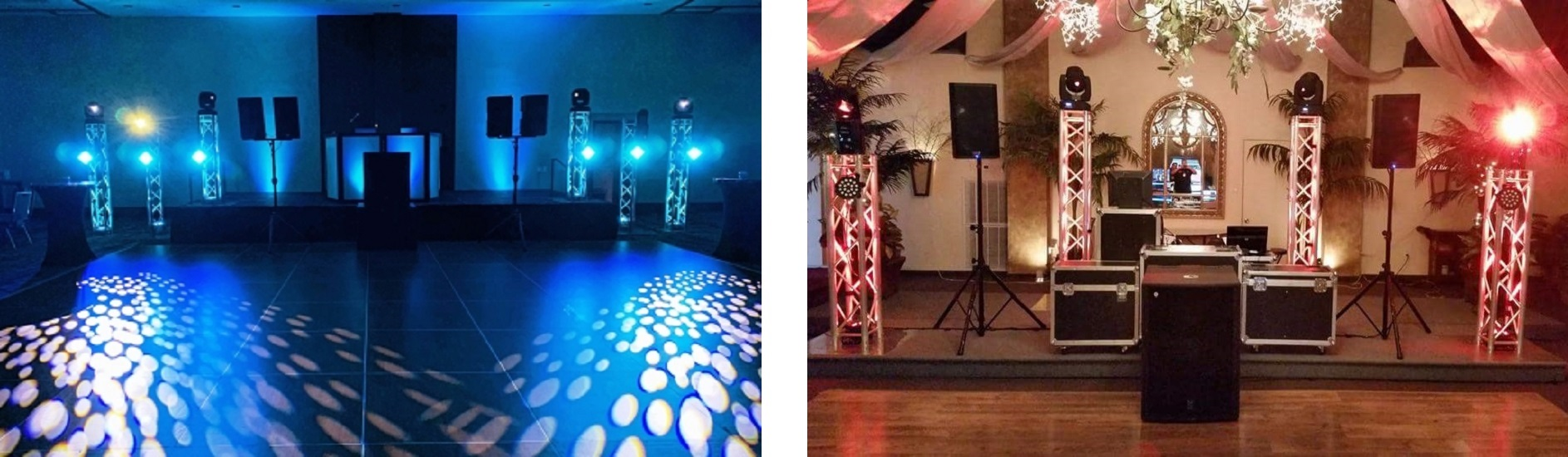Dance Floor Lighting, Club Lighting, Moving Heads, Scanners, Spot Lighting, Light Floods for a Houston Wedding, Quinceañera, Sweet 16, Social Event, Event, Prom, Homecoming, School Dance