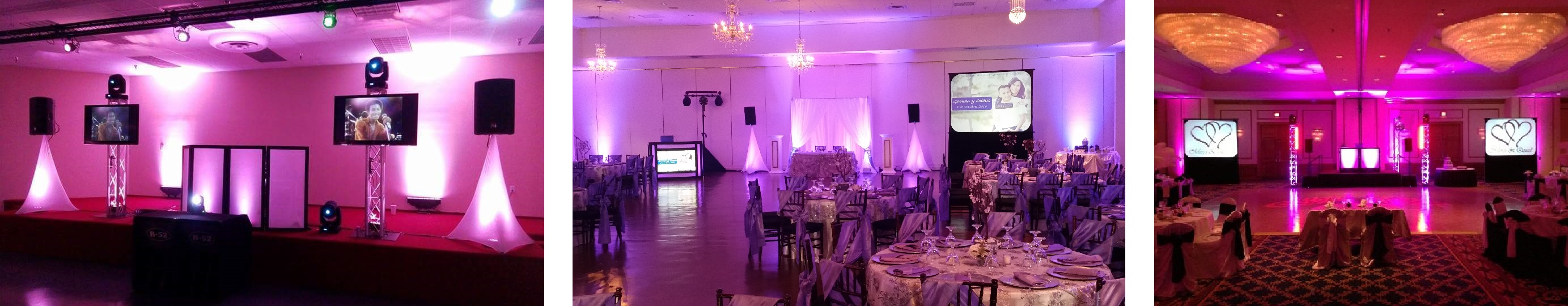 Houston Weddings, Weddings in Houston, Houston Audio Visual, Video Projection, Rear Screen Projection, Flat Screen TVs